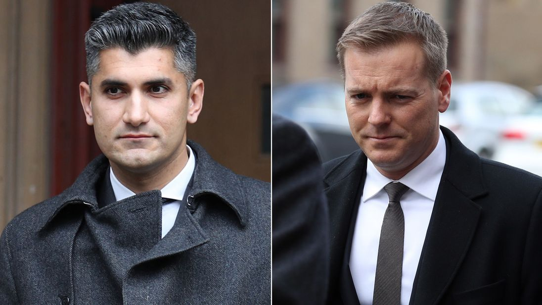 Imran Syed (left) and Jean-Francois Perreault have had the charges against them dropped