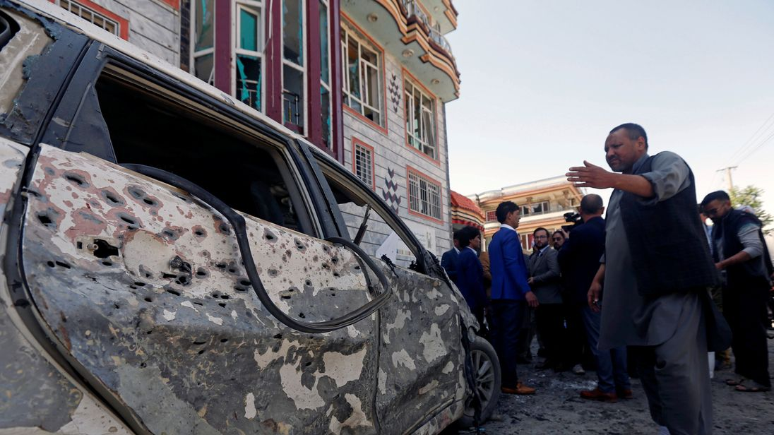 The bomber struck as civilians gathered to receive national ID cards