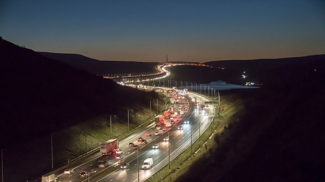 Two men killed in M62 crash after car