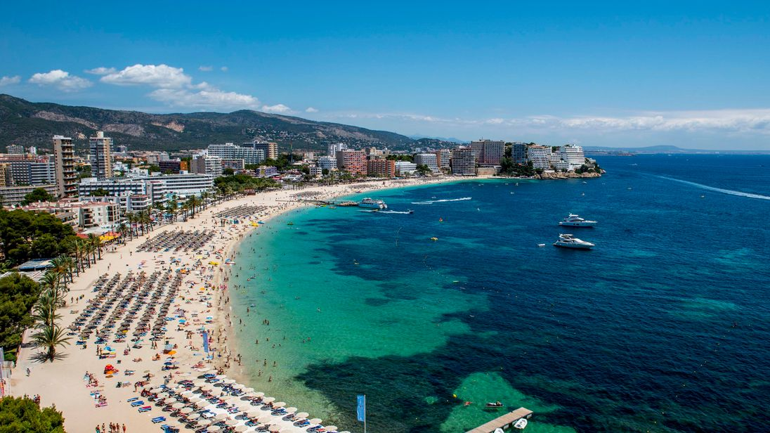 Magaluf on the Spanish island of Majorca is a popular party resort for British tourists