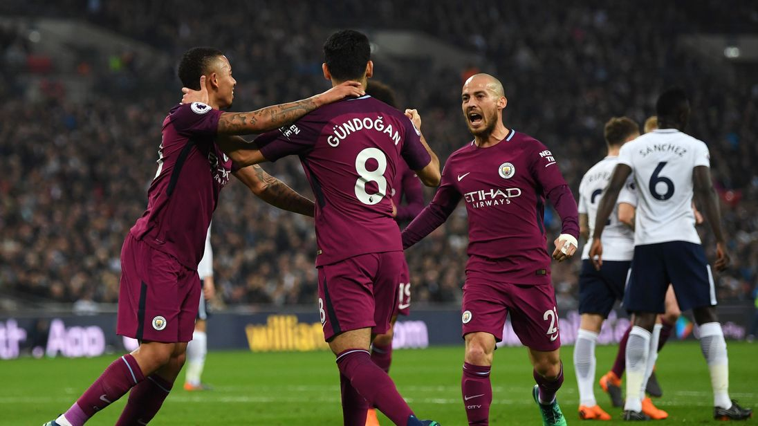 Man City are 16 points clear at the top of the league