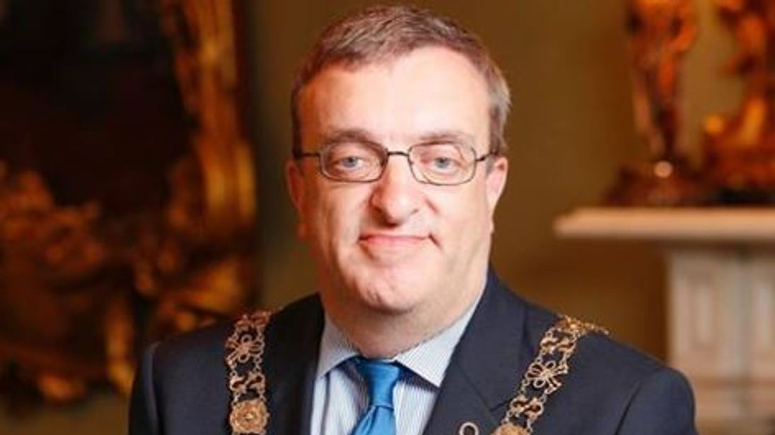 Dublin mayor Michael Mac Donncha is banned form Israel over his support of the Boycott, Divestment and Sanctions movement. Pic: Lord Mayor of Dublin/Twitter