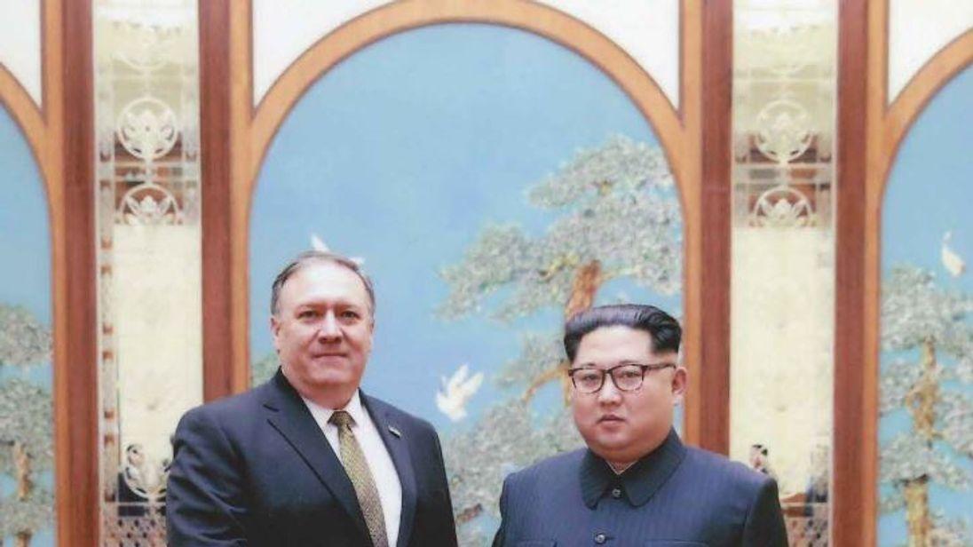 Mike Pompeo met in secret with Kim Jong-Un over Easter. Credit Sarah Sanders/Twitter