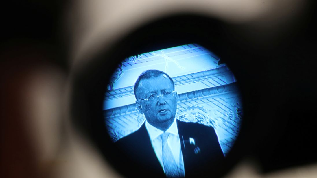 DATE IMPORTED:13 April, 2018Russian Ambassador Alexander Yakovenko addresses the media at a news conference in the official Russian Ambassador's residence in central London, Britain, April 13, 2018