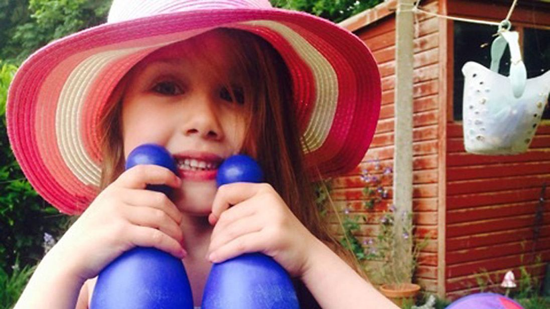 Summer Grant, seven, died when a bouncy castle she was in blew across a park