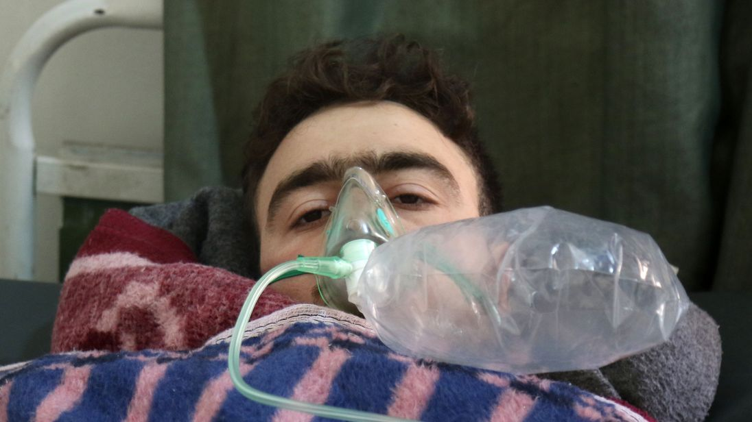 Hundreds were injured in the suspected sarin gas attack