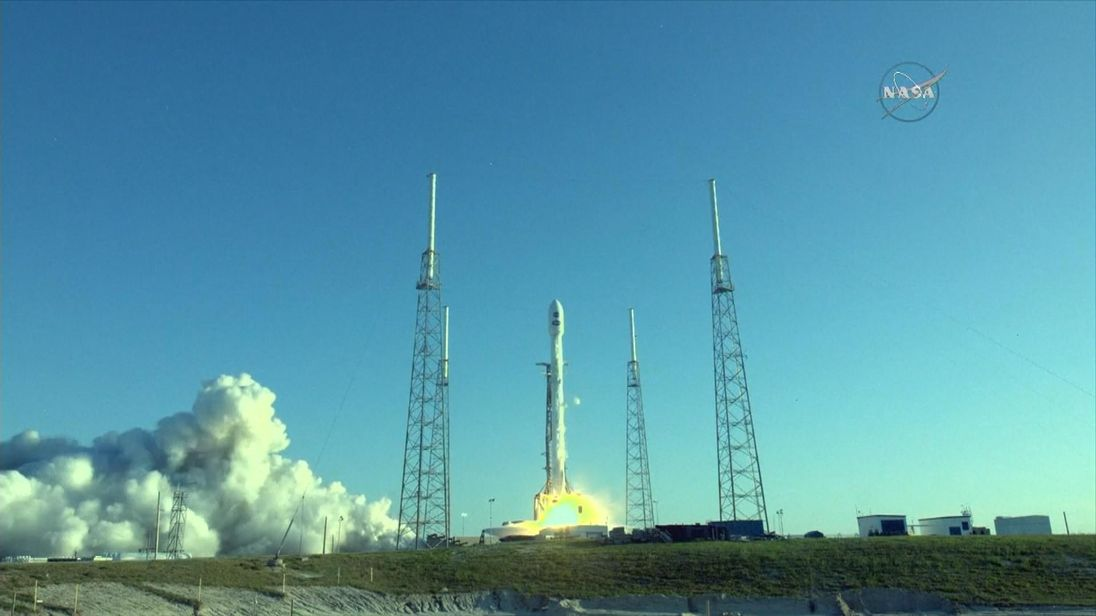 Tess blasts off on a SpaceX rocket. Pic: NASA