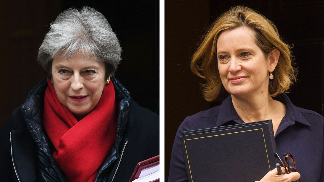 Prime Minister Theresa May and former Home Secretary Amber Rudd