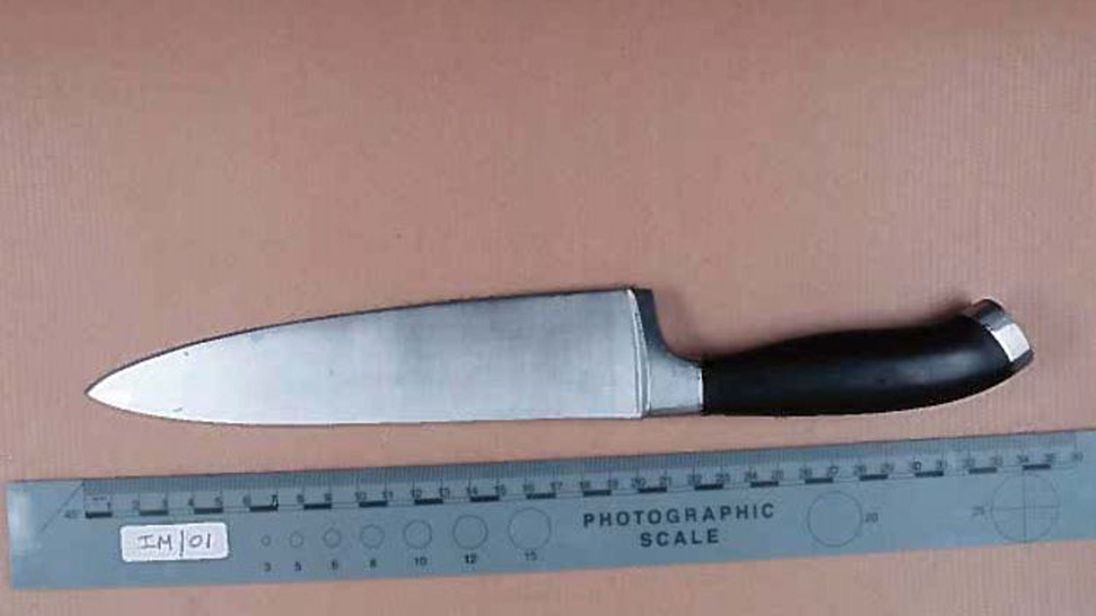 One of two knives taken from Tony Buttigieg