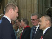 The Duke of Cambridge jokes about baby names at an ANZAC memorial event at Westminster Abbey