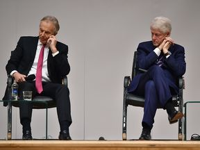 Former US President Bill Clinton was joined by Tony Blair at an event to mark 20 years since the Good Friday Agreement