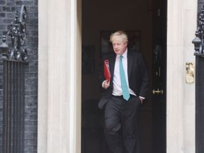 Foreign Secretary Boris Johnson leaves 10 Downing Street, London, after attending a cabinet meeting.