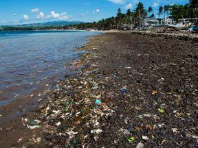 Bulabog beach on Boracay island, Philippines in 2012