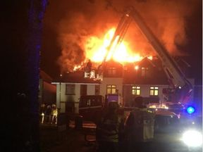 Over 70 firefighters and officers are at flat fire in Chingford. Pic: LAS