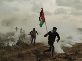 Protesters claim they are not terrorists, they are just fighting against Israeli aggression