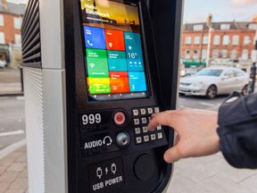 The kiosks offer free calls, Wi-Fi and USB charging. Pic: InLinkUK