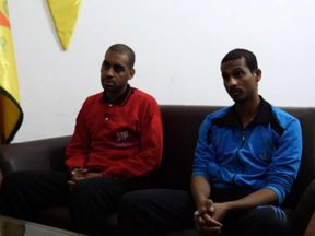 Alexanda Kotey (L) and El Shafee Elsheikh were interviewed in northern Syria