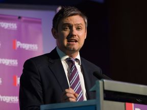John Woodcock MP speaks at the opening session of the Progress annual conference, Central London