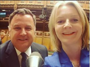 Liz Truss posted an Instagram photo of her and fellow Treasury minister Mel Stride