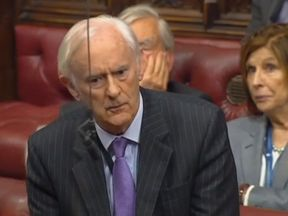 Lord Green of Deddington speaks in the Lords