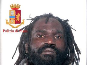 Mamadou Jallow is arrested. Pic: Polizia di Stato