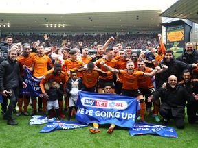 Wolves have secured promotion from the Sky Bet Championship