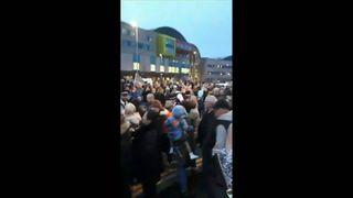 Supporters of Alfie Evans' parents outside Alder Hey hospital