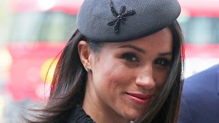 Meghan Markle arrives for an ANZAC day service at Westminster Abbey