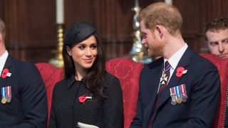 Prince Harry and Meghan Markle during the annual Service of Commemoration and Thanksgiving at Westminster Abbey