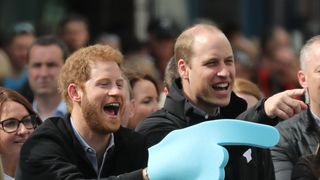 Princes Harry and William last year