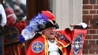 The news was announced by a town crier outside the Lindo Wing