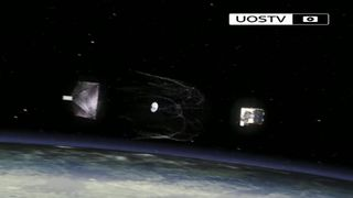 Net technology to snare space debris