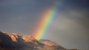 A rainbow over Israel