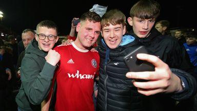 Accrington celebrate promotion