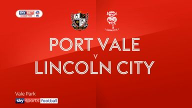 Port Vale 1-0 Lincoln