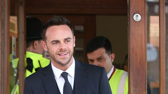 TV presenter Anthony McPartlin leaves The Court House in Wimbledon, London, after being fined £86,000