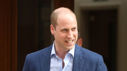 Prince William, Duke of Cambridge departs the Lindo Wing after Catherine, Duchess of Cambridge gave birth to their son at St Mary's Hospital on April 23, 2018 in London, England. The Duchess safely delivered a boy at 11:01 am, weighing 8lbs 7oz, who will be fifth in line to the throne.