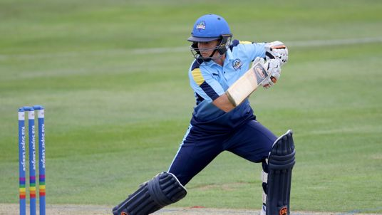 Katherine Brunt of Yorkshire Diamonds batting during the Kia Super League between Yorkshire Diamonds v Western Storm at York on August 20, 2017 in York, England. (Photo by  Richard Sellers/Getty Images)*** Local Caption *** Katherine Brunt....