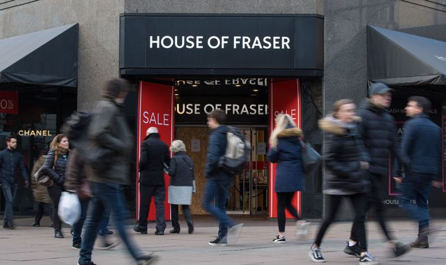 Closure fears for House of Fraser stores