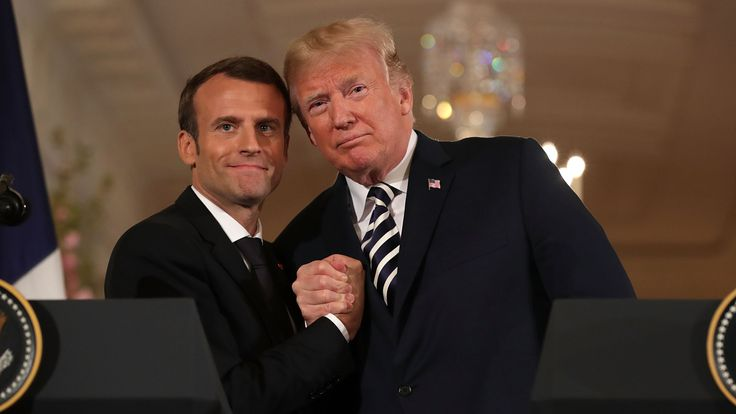 Uprooted… Macron's oak tree for Trump vanishes