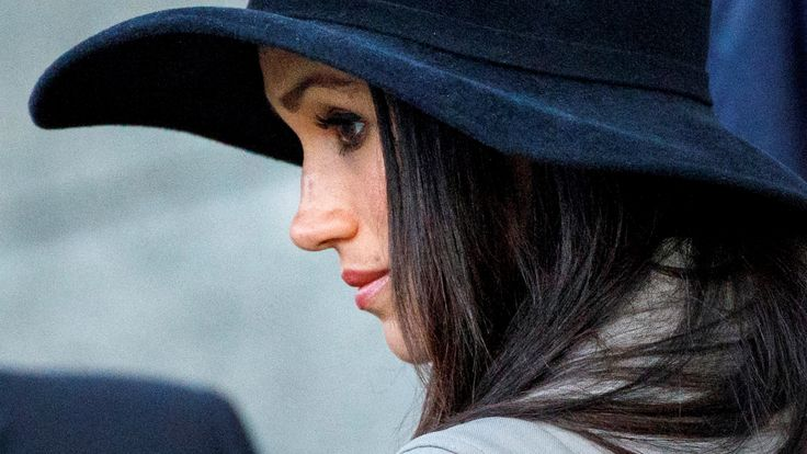 Meghan Markle attends the Dawn Service at Wellington Arch to commemorate Anzac Day