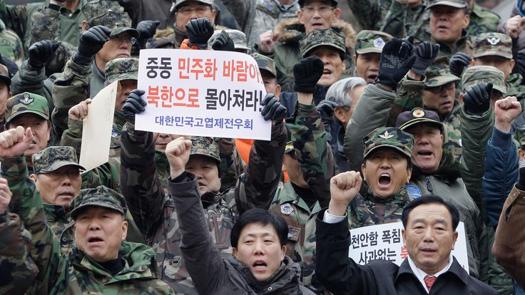 South Koreans celebrate the death of Kim Jong Il in 2011
