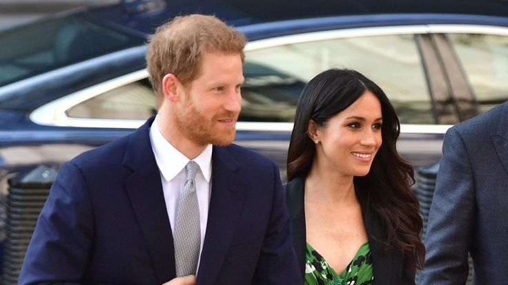 Prince Harry and Meghan Markle arrive at Australia House