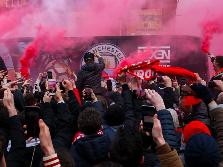 Image result for Liverpool Charged by UEFA After Fans Attack Manchester City's Team Bus