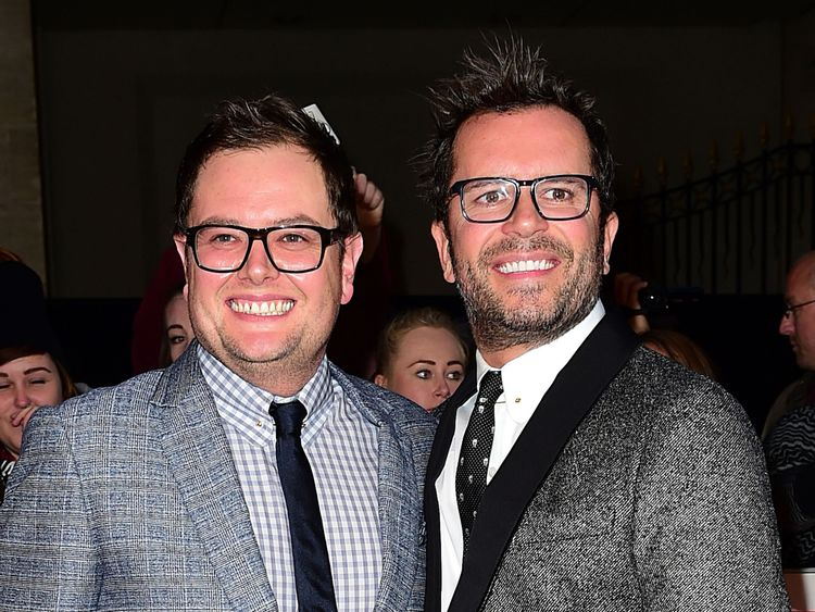 Alan Carr and his new husband, Paul Drayton