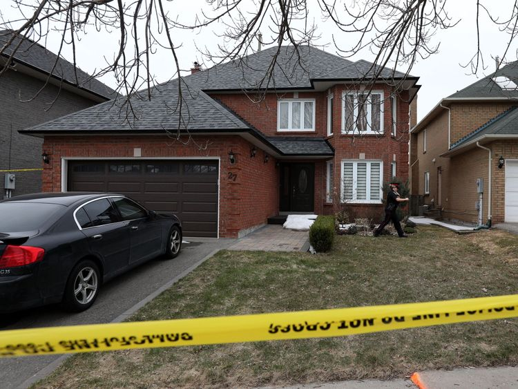 Police mark off Alek Minassian's house in Richmond Hill, Ontario