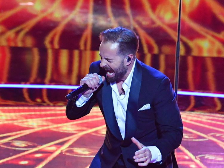 Alfie Boe performs at the Royal Albert Hall