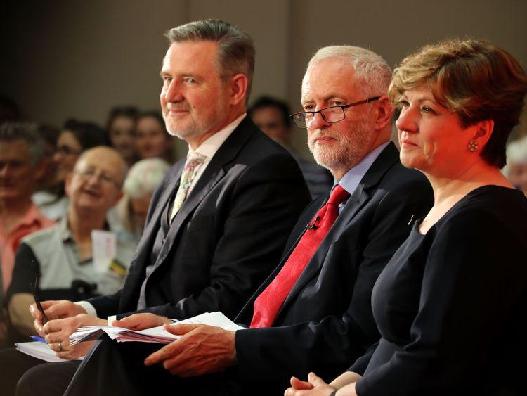 Barry Gardiner, Jeremy Corbyn and Emily Thornberry
