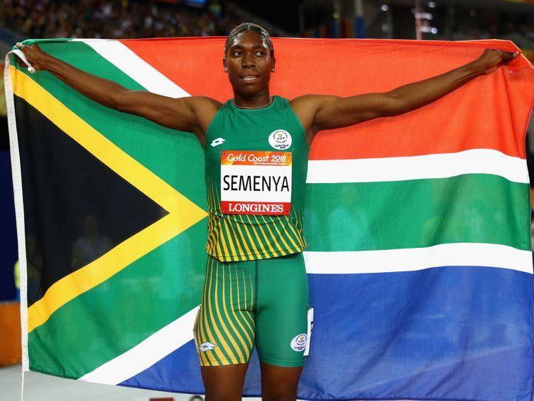 Semenya is an Olympic 800-metre champion