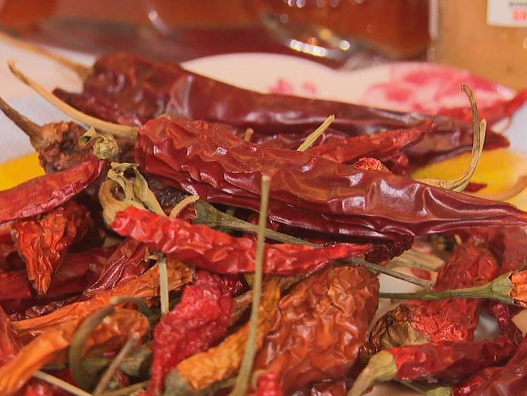 Chilli, chillies pepper. Robinson VT